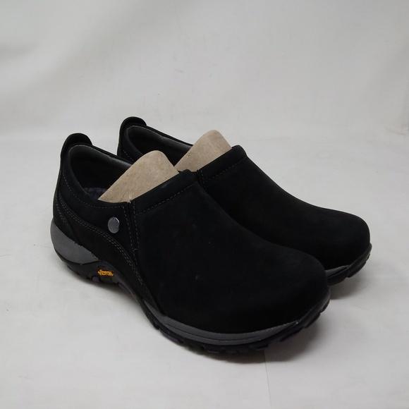 New DANSKO Women/'s Patti Black Milled Waterproof Leather Nubuck Shoes 4353100294